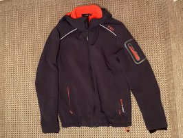 CMP Softshell Jacket dark blue-neon red