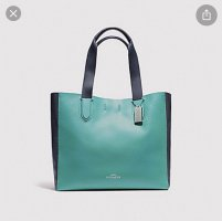 Coach Tote light blue-black