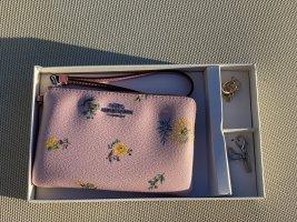 Coach Boxed Corner Zip Wristlet In Dandelion Floral Print Canvas Blossom Multi *new*