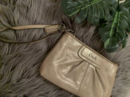 Coach Clutch gold-colored