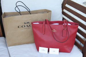 Coach Tote red leather