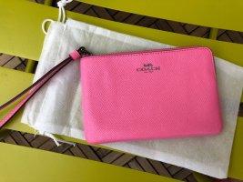 COACH Geldbörse Portemonnaie Clutch Pink Leder NEU