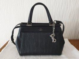 COACH Grace Bag mit Nieten in Schwarz Gesteppte Leder Handtasche
