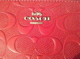 Coach Clutch framboosrood Leer