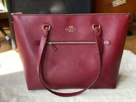 Coach Leather Gallery Schultertasche Rot Wein