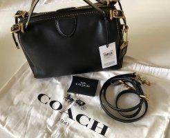 COACH Leather Laural Frame Bag Black