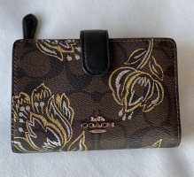 Coach Medium Corner Zip Wallet in Signature Canvas with Tulip Print  *NEU*