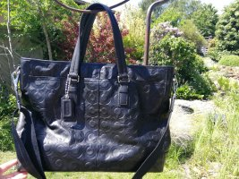 Coach Porte-documents noir cuir