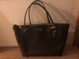 Coach Shoulder Bag black brown-dark brown