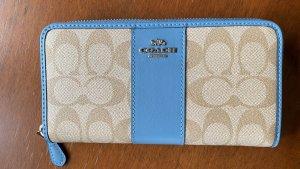 Coach Sig Acc zip wallet light khaki slate
