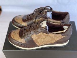 Coach Signature Runner Khaki/Mahogany  Lace Up Size US 5.5 B *NEW*