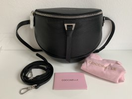 Coccinelle Bumbag black-silver-colored leather