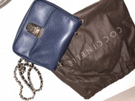 Coccinelle Crossbody bag dark blue-bronze-colored leather