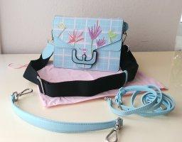 Coccinelle Echtleder Tasche Minibag in Himmelblau NEU