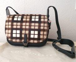 Coccinelle Echtleder Tasche Minibag in Pony-Fell Optik in Schwarz NEU