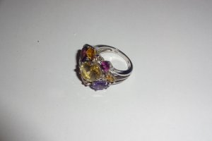 Silver Ring multicolored metal