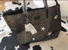 Codello shopper Handtasche Tasche bag schwarz Print neu