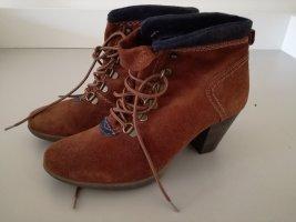 Street Shoes Stivaletto stringato cognac-blu scuro