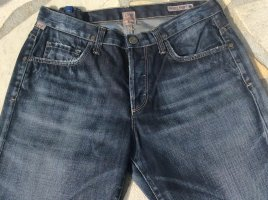 Citizens of Humanity Hoge taille jeans donkerblauw-blauw Katoen