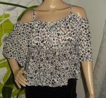 Koszula typu carmen biały-czarny