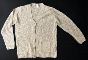 Collection L Veste tricotée en grosses mailles blanc-beige clair acrylique