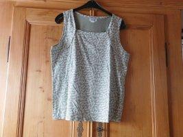 Collection L: Shirttop, Karree-Ausschnitt, Hellgrün-Ecru, Gr. 46