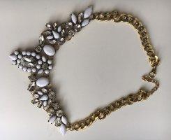 Collar estilo collier blanco-color oro