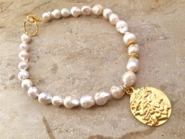 Pearl Necklace natural white-gold-colored