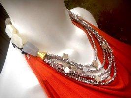 Collier Designer Kette Kristalle Labradorit Jaspis Sterne Unikat