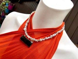 Collier Designer Nuggets Perlen Kette Anhänger Amethyst Unikat