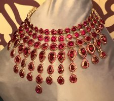 Collier Necklace dark red-gold-colored