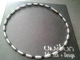Naszyjnik srebrny-czarny