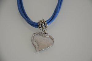 Collier argento-blu