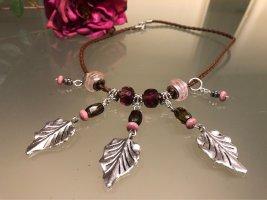 Handarbeit Collier Necklace multicolored