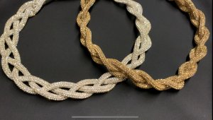 Collier Necklace silver-colored-gold-colored