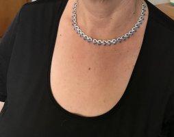 Swarovski Collier Necklace neon blue-white