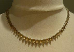 Colliers ras du cou argenté-jaune primevère métal