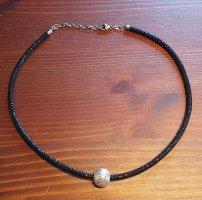 HSE24 Colliers ras du cou noir-argenté