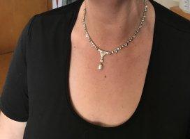 Swarovski Collier Necklace white-silver-colored