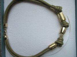 Pierre Lang Collar estilo collier verde oliva-color oro
