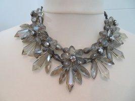 Zara Collar estilo collier color plata-blanco