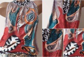 CoLoRaTo! Bunte TunikaBluse/Shirt - Größe M 38/40 - Zum Binden - ItalY
