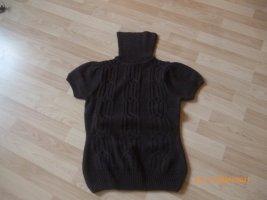 Colours of the World Sweter z krótkim rękawem czarno-brązowy-ciemnobrązowy