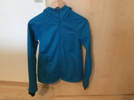 Columbia Kurtka softshell niebieski neonowy Tkanina z mieszanych włókien