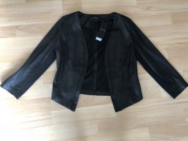 Comma Blazer in pelle nero