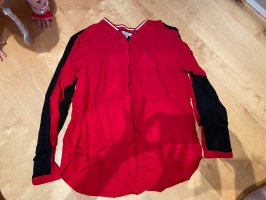 Comma Long Sleeve Blouse black-red