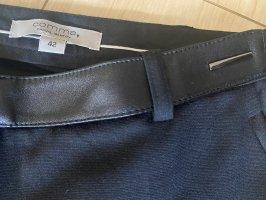 Comma Hose schwarz mit Lederapplikationen-Größe 42-neu