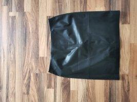 Comma Jupe en cuir synthétique noir