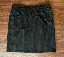Comma Falda de lana negro-color plata