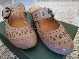Comma Clog Sandals dusky pink leather